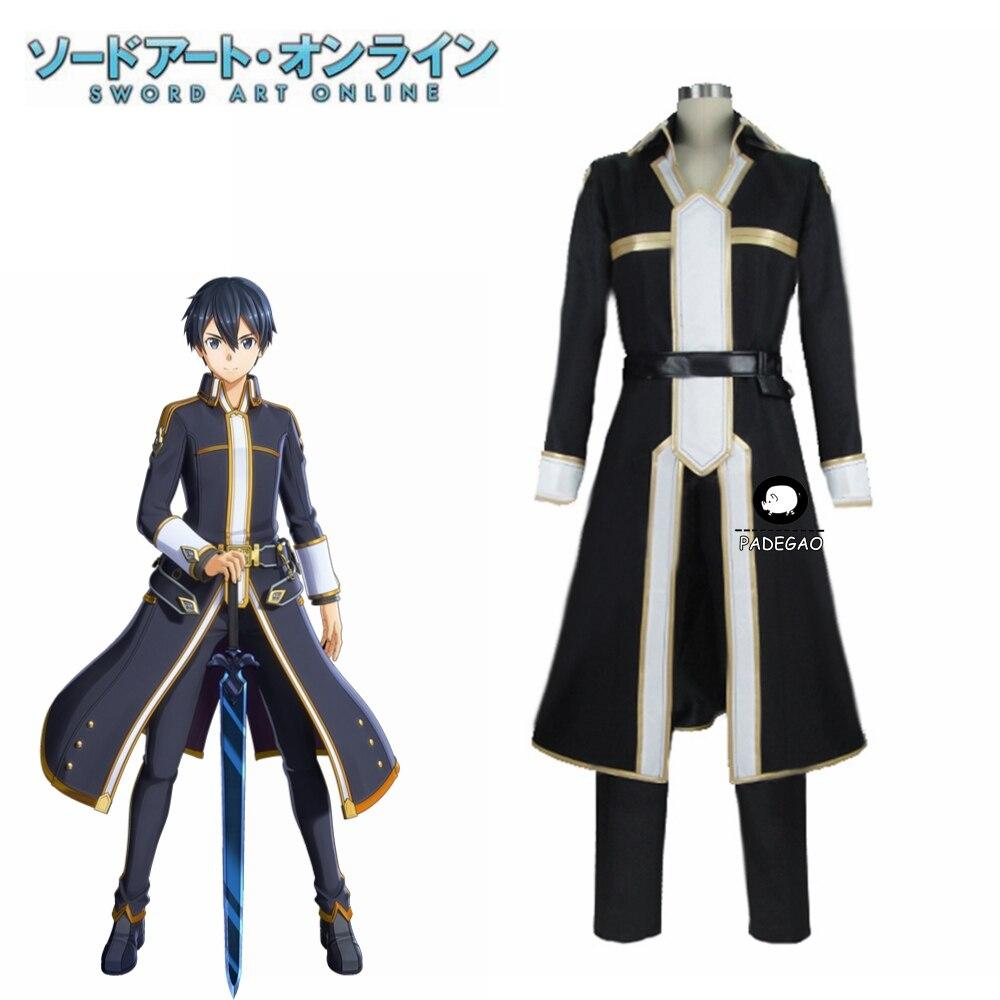 Sword Art Online SAO Kirigaya Kazuto Kirito Cosplay Costume Party Christmas Halloween Custom Made Any Size