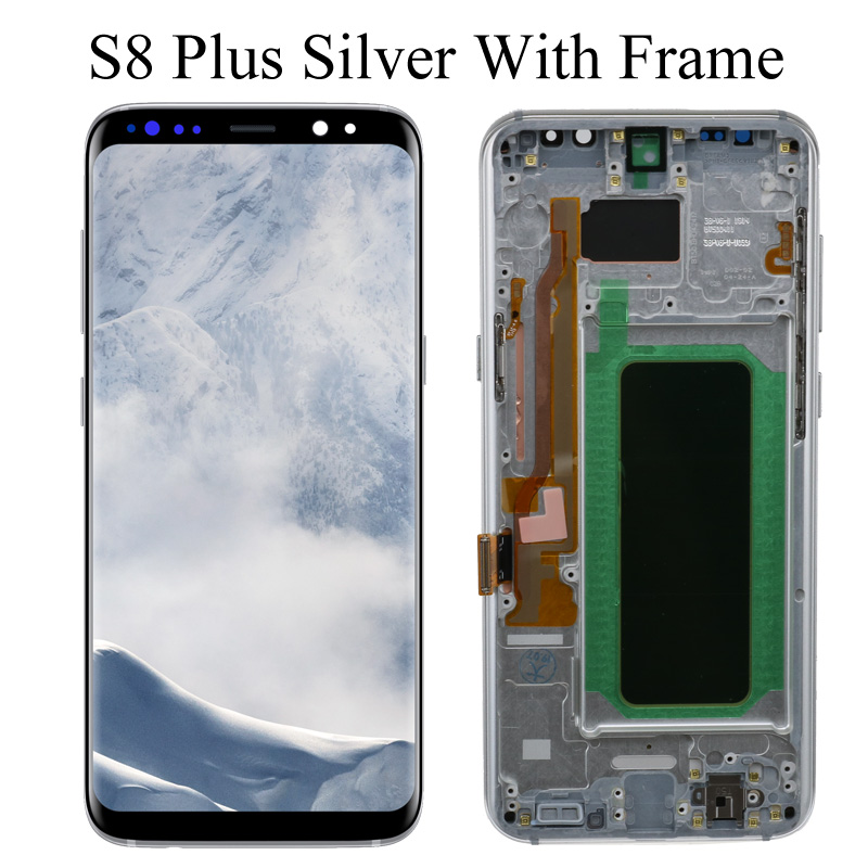 original S8 S8plus Display Screen for SAMSUNG Galaxy S8 Screen Replacement LCD Touch Digitizer Assembly G950F G955 with FRAME