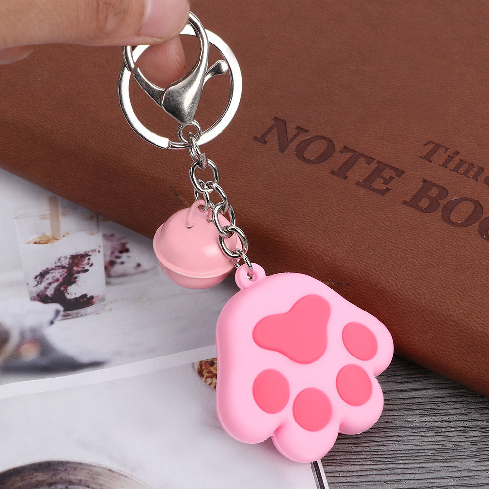 Creative Dog Cat Paw Keychain Cute 3D Cartoon Animal Fruit Avocado Silicone Car Handbag Pendant Decor Jewelry Gift Key Ring