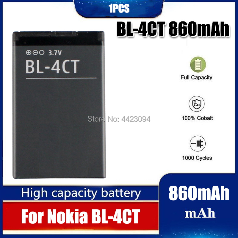 1pc 2020 Replacement BL4CT BL-4CT BL 4CT Phone Rechargeable Battery For Nokia 5630 7212C 7210C 7310C 7230 X3-00 2720F 6702S(China)
