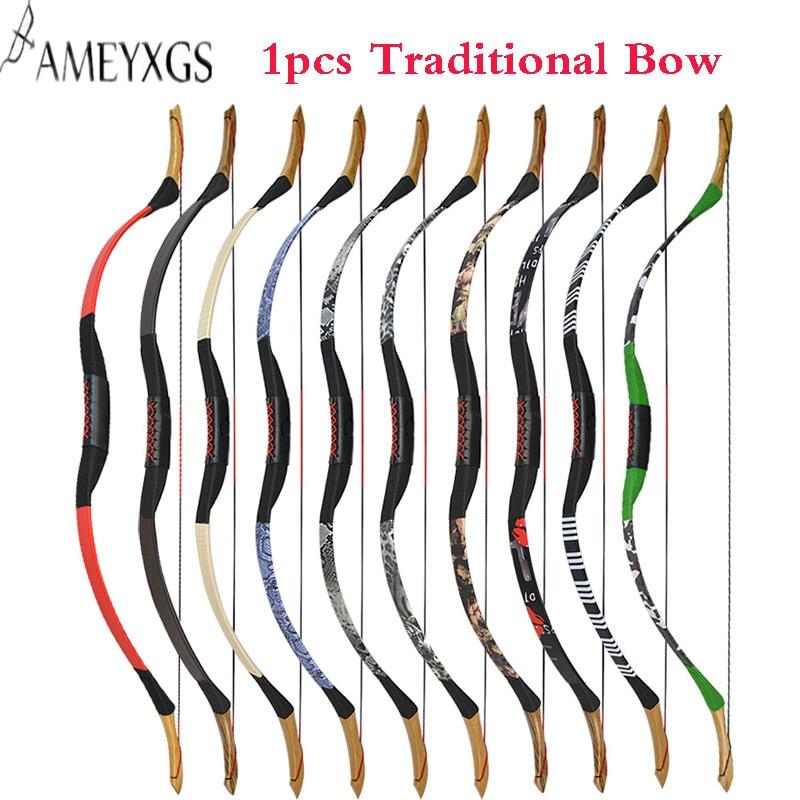 1 pièces tir à l'arc 25 ~ 55lbs arc classique arc long pour tir en plein air accessoires de chasse