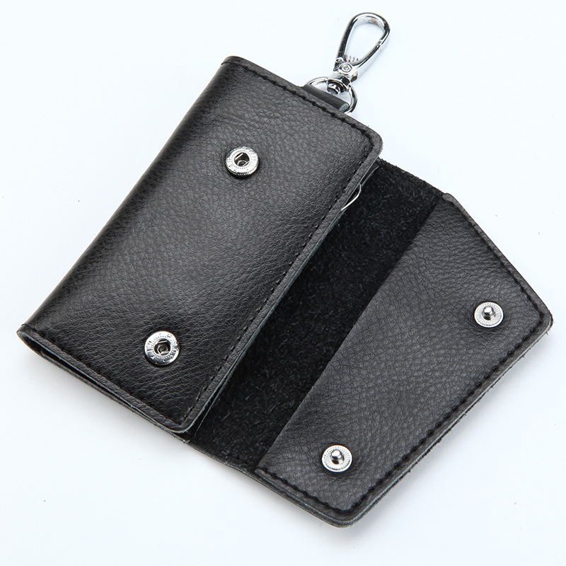 Leather Keychain Men Women Key Holder Organizer Pouch Car Wallet Card Bag Case