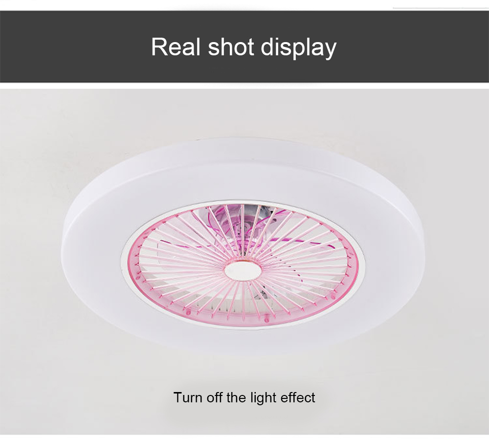 220v/ 110v LED dimming remote control ceiling Fans lamp Invisible Leaves 58cm Modern simple home decoration Luminaire