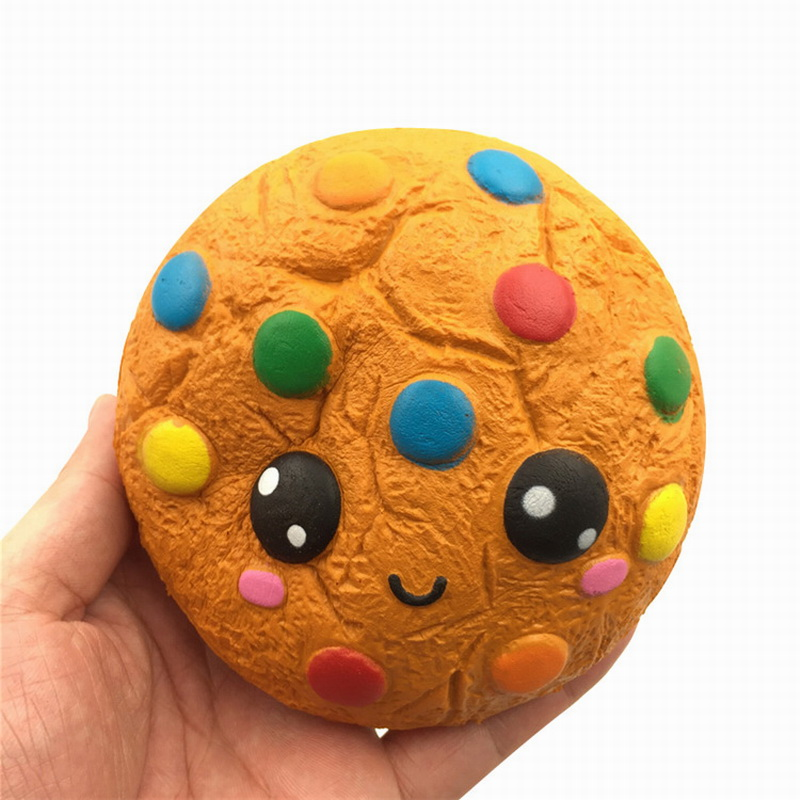 Chocolate Expression Cookies Squishy Slow Rebound Pu Simulation Color Peas Card Through Home Toys Food Squishy Toys For Children