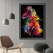 Modern Watercolor Home Wall Decor Animal Art Tiger Canvas Painting Wall Art Posters and Prints for Living Room Wall Pictures недорого