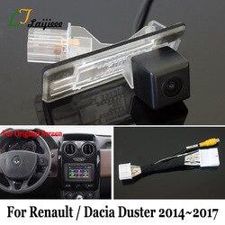 Dla Renault Dacia Duster 2014 2015 2016 2017 kamera cofania samochodu z 24Pin Adapter kabel/OEM monitora kompatybilny kamery cofania w Kamery pojazdowe od Samochody i motocykle na