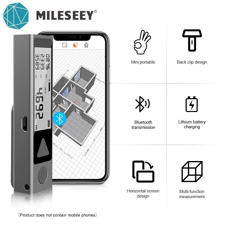 Mileseey MiNi Bluetooth Laser Distance Meter Trena Laser Measuring Tape Handheld Metre Laser