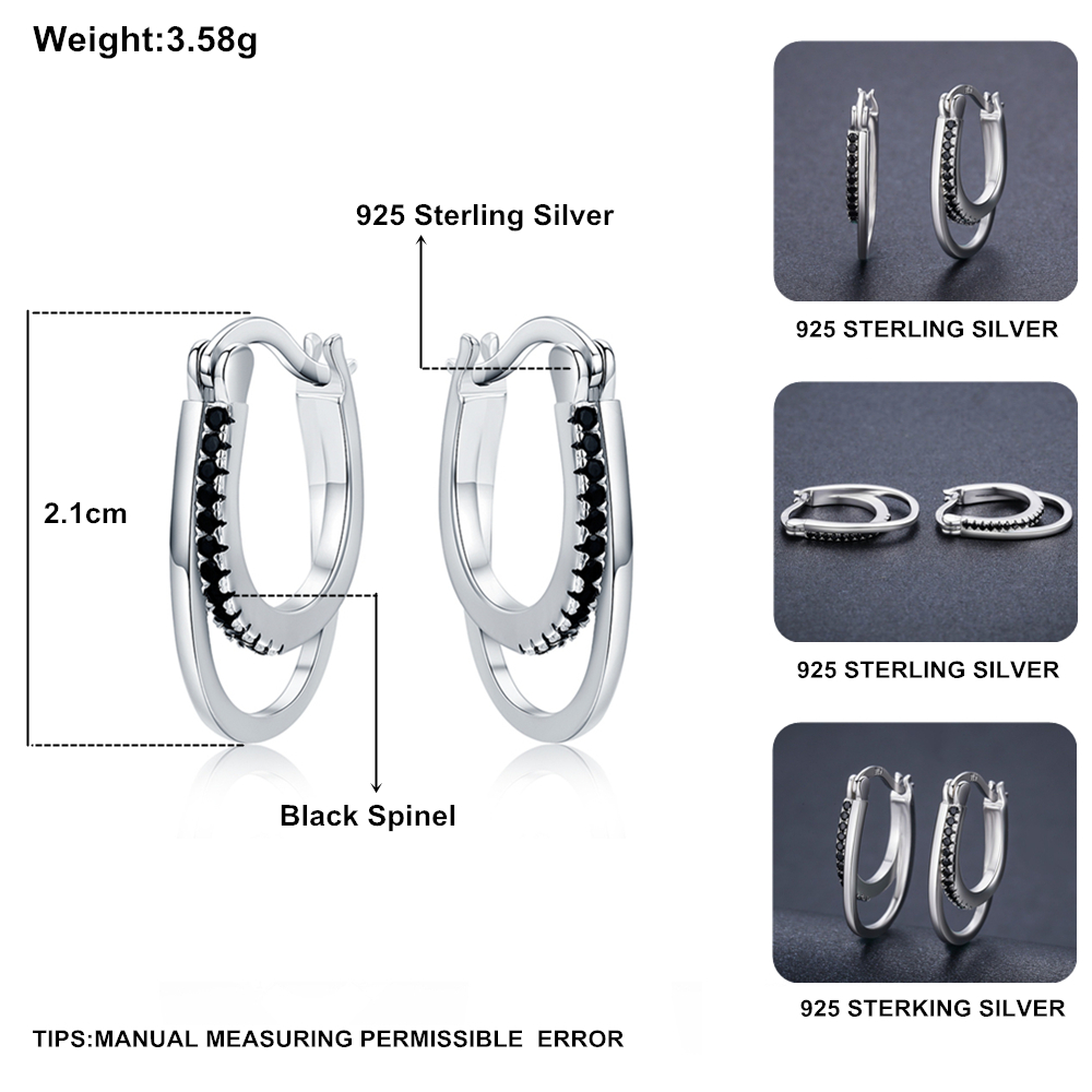 SODROV Vintage 925 Sterling Silver Earrings Engagement Hoop Earrings For Women Fine Jewelry Bijoux II004