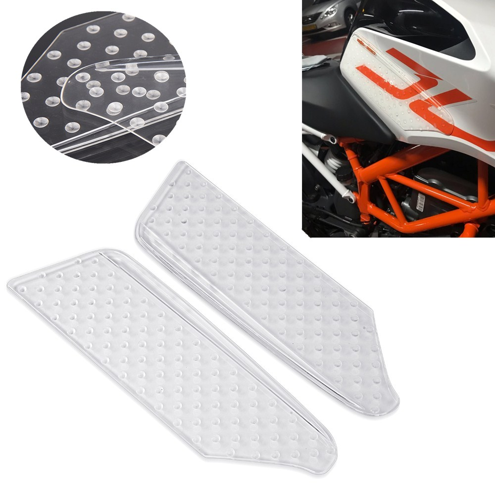 2019 New Decal Motorcycle Parts Tank Traction Side Pad Gas Fuel Knee Grip Decal For 2017-2018 KTM DUKE 390 With Logo Duke Clear
