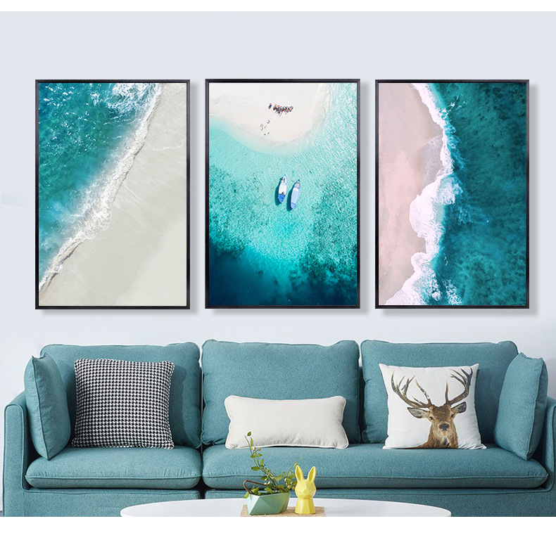 Nordic Landscape Canvas Painting Posters And Prints Blue Sea Cuadros Decoracion Poster Canvas Pictures For Living Room Frameless