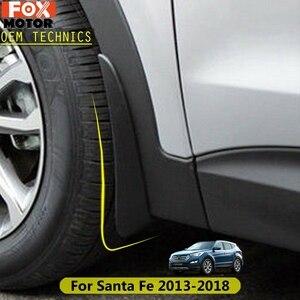 For Hyundai Santa Fe LX Ix45 2013 - 2018 Santafe Mudflaps Splash Guards Mud Flap Mudguards Styling 2014 2015 2016 Car Mud Flaps