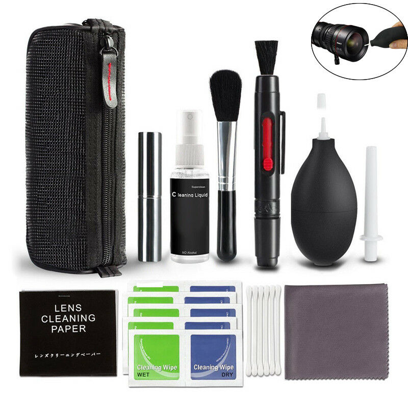 10 in1 Professional Lens Cleaning Cleaner Kit for DSLR Nikon Canon Sony Camera