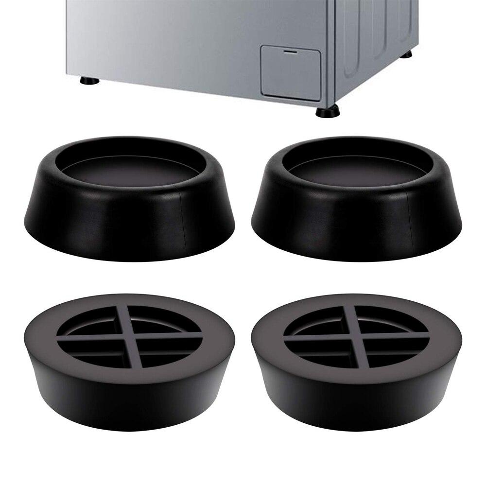 4PCS Washing Machine Rubber Pads for Anti Vibration Pads Refrigerator Mute Mat Refrigerator Floor Furniture Protectors 1