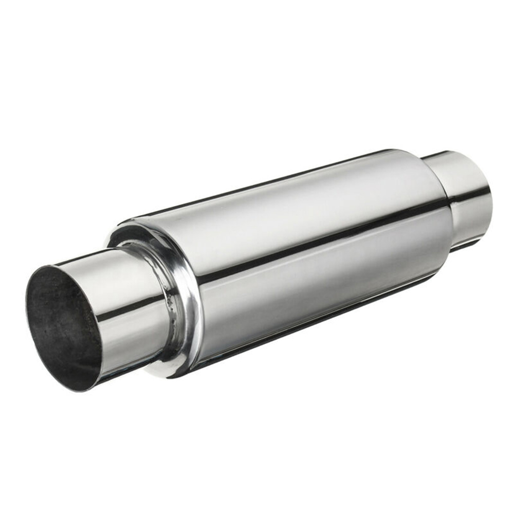 """Hot New 2.5"""" Inlet/Outlet Stainless Steel Exhaust Turbine Muffler Resonator 12"""" Long Universal For Car"""