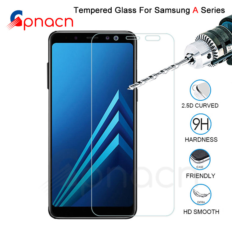 9H Защитное стекло для samsung Galaxy A3 A5 A7 2015 2016 2017 Защитная пленка для экрана A6 A8 Plus A9 2018 закаленное стекло