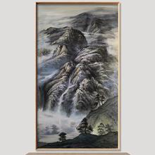 Ручная Краска маслом китайские чернила горная Картина Пейзаж