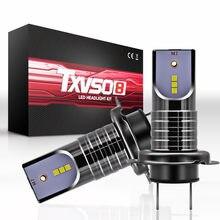 Phare de voiture H7 Txvso8 110w 6000, Super réflecteur, couleur de la lumière Dc9v-32v, ampoules Led 360 H7 réglables, étanche Ip68 - 2 paquets # K