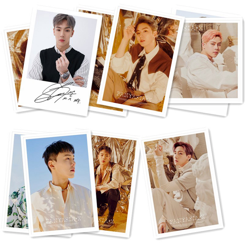 MONSTA X Signed Photo Cards with Gift Box