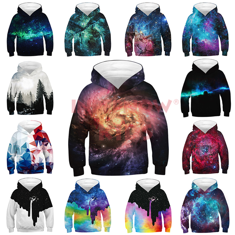 2020 Spring Starry Sky 3d Children's Sweatshirt For Boy Hoodies & Sweatshirts For Girls Teenagers 3d Hoodies Kids Clothes CZX13