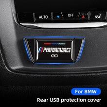 אוטומטי אחורי USB טעינת נמל הגנת כיסוי עבור BMW 1 3 5 סדרת X1 X2 X3 X4 G01 G02 G20 g30 F20 F48 אביזרי רכב