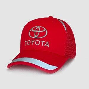 Image 2 - 2019 czapka z daszkiem sport samochód wyścigowy męskie okulary Moto GP samochód Toyota Motocross czapki czapka wyścigi F1 motocykl 3D Embroide