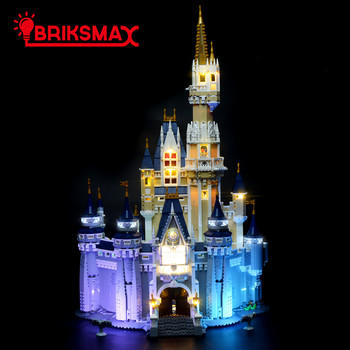 lepin 16008 cinderella princess castle city set 4080pcs model building block diy toys christmas gifts compatible legoed 71040 BriksMax Led Light Kit For Creative Series Cinderella Princess Castle Building Blocks Compatible With 71040 (NOT Include Model)