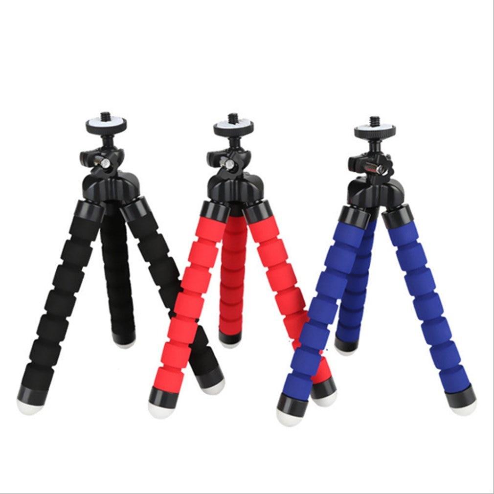 Nova esponja flexível polvo mini tripé flexível tripé de telefone para iphone mini câmera tripé suporte do telefone clipe 2
