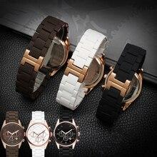 20mm 23mm Stahl Gummi Silikon Uhr Band gelten Armani AR5905 AR5906 AR5919 AR5920 Uhren Handgelenk Armband armband rosegold