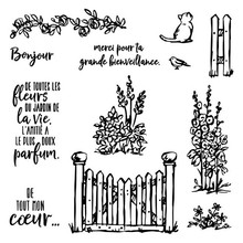 French Metal Cutting dies and Stamps for Scrapbooking Grace's GARDEN Craft Stamp Silicone Seals Stencil Album Card Making Sheet jc rubber stamps and metal cutting dies scrapbooking craft house pet dog s home stencil for card making album sheet decoration