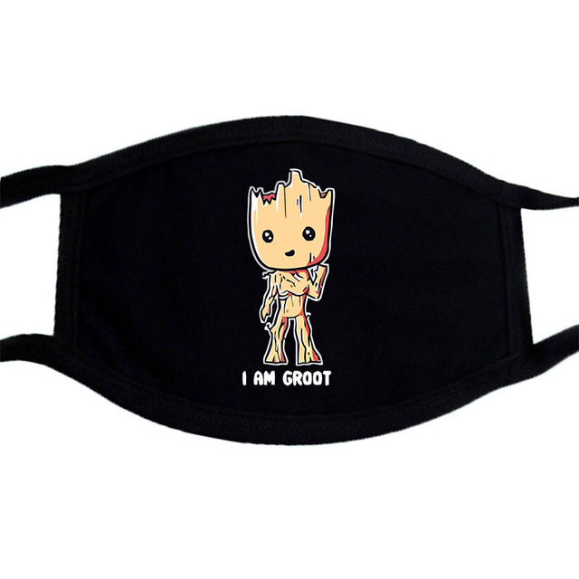 Iron Man Groot Superhero Mask Anime Cartoon Cute  Dust Masks Black Casual Keep Warm Mask Kpop Mouth Muffle Face Masks 4