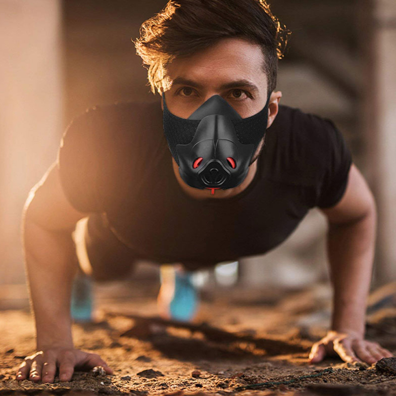 Oxygen Blocking Exercise Mask Running Training Mask Anaerobic Cycling Dust And Haze Mask Plateau Simulation Fitness Human Limit