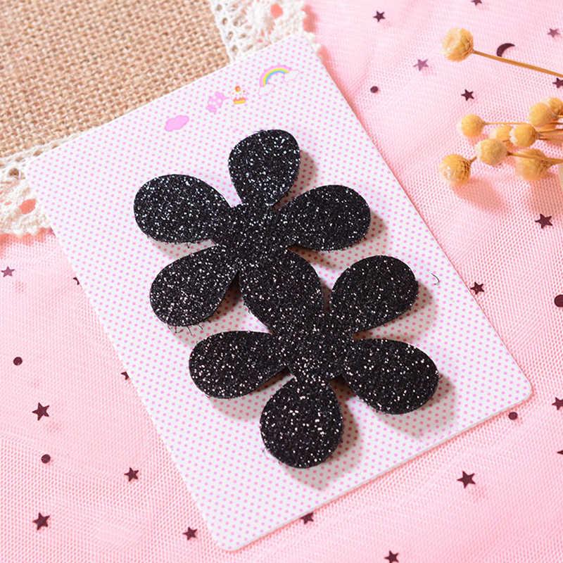 Sequins Bangs Sticker Hair Magic Paste Tape Women Girls Fashion Hair Accessories Black Bow Flower Heart Shape Hair Clip Headwear