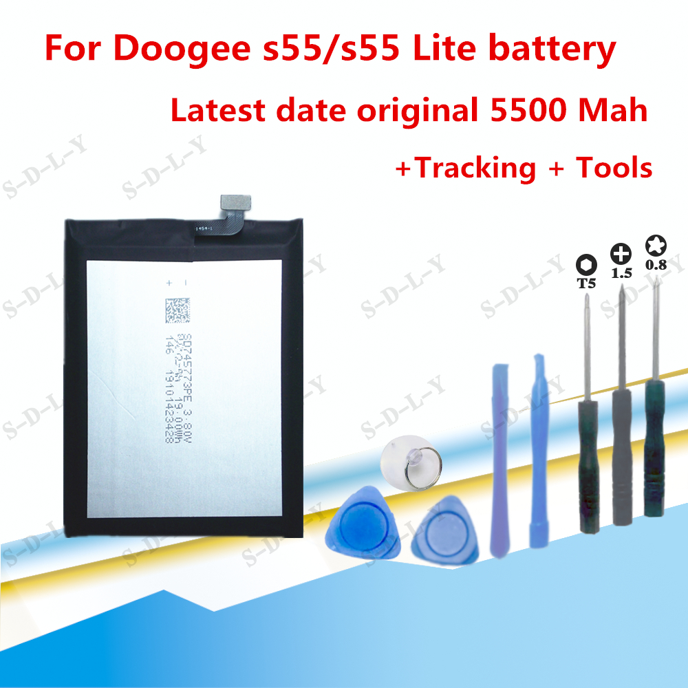 3.8V BAT18735500 battery 5500mah for Doogee s55 s55Lite Cellphone batteries Doogee s55 battery +Tracking + Tools