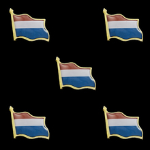 5PCS Netherland Country Flag Epoxy Waving Metal Lapel Pin Badge Brooch 5pcs netherland country flag epoxy waving metal lapel pin badge brooch