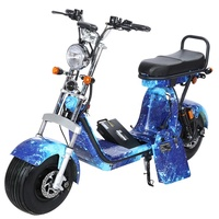 EEC Approved Street Legal Electric Motorcycle 18inch Citycoco 60v60ah 3 Batteries Electric Scooters Europe stock with Mirrors 2