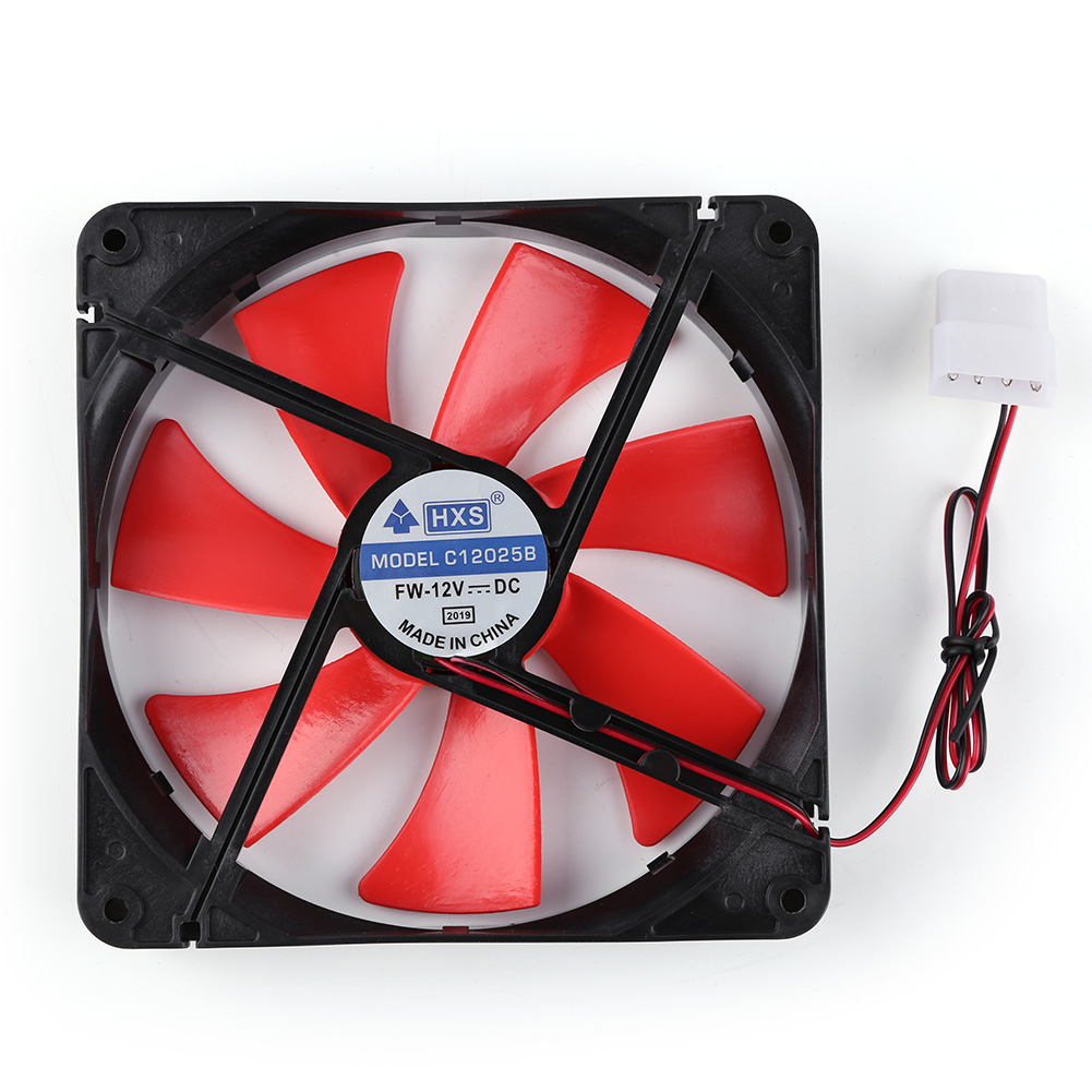 <font><b>140mm</b></font> 4 Pin Speed Adjustable Silent PC Case Cooling <font><b>Fan</b></font> CPU Cooler <font><b>Fan</b></font> <font><b>12V</b></font> Cooling <font><b>Fan</b></font> Speed Adjustable for PC image