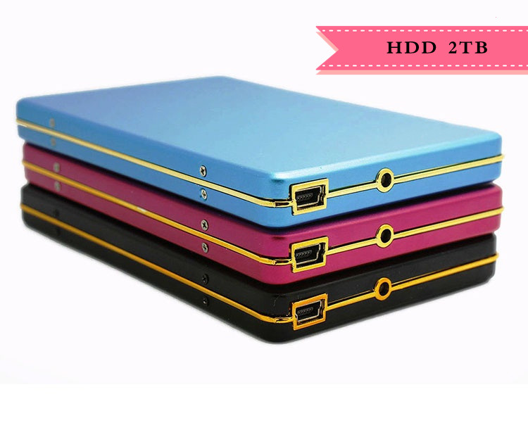 2019 HDD 2TB Metal Case USB 2.0 Laptop Mobile Hard Drive 1tb External Hard Drives 2000G Monitoring Externo Storage Free Shipping