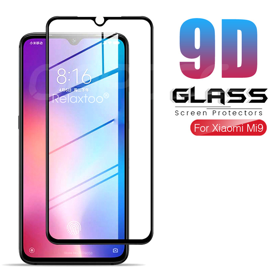 9D Tempered <font><b>Glass</b></font> on For <font><b>Xiaomi</b></font> <font><b>Mi</b></font> <font><b>9</b></font> 8 SE 9T Pro CC9 CC9E A2 A3 Lite Play Pocophone F1 <font><b>Screen</b></font> <font><b>Protector</b></font> Protective <font><b>Glass</b></font> Film image