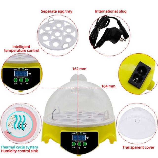 7 Egg Automatic Incubator Poultry Hatchery Machine Brooder Digital Chicken Duck Bird Temperature Control Chicken Hatcher 30% off 3