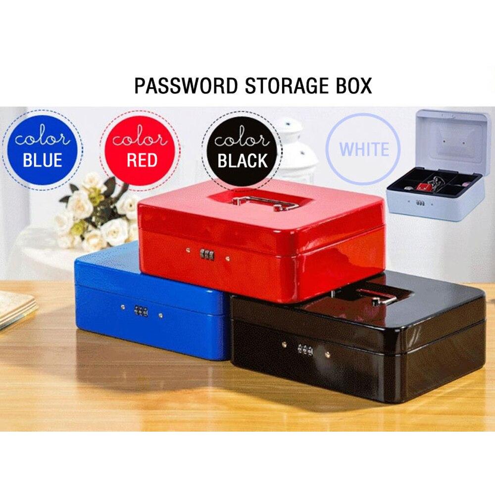 IMPORX Password Mini Cash Money Safe Box Practical Metal Stainless Steel Secret Box 3 Digit Combination Key Storage Lock Box