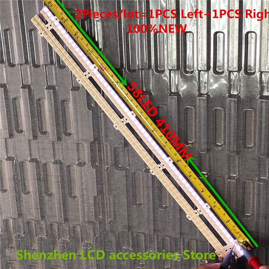 2PCS/lot For 2011SVS37-FHD-5K6K6.5K-LEFT RIGHT JVG4-370SMB-R2 JVG4-370SMA-R2 UE37D6500 UE37D6100SW LD370CGB-C2 NEW  58LED  410MM