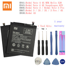 Xiao Mi BN41 Original Phone Battery For Xiaomi Redmi Note 4 4X 3 Pro 3S 3X 4X 4A BN43 BN30 BM46 BM47 Replacement batteries black car headlight light vinyl film sticker taillight fog lamp tint vinyl wrap smoke film sheet sticker hot sale australia etc