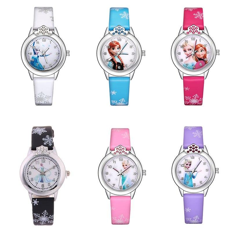Frozen Silicone Watch Child Quartz Wrist Watches Anna Aisha Cartoon Movies Children Electronic Clock Girl's Watch Gifts Toys