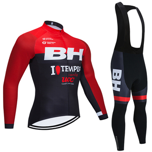 Winter BH TEAM cycling jersey 20D Bike Pants Sportswear men Long sleeves Ropa Ciclismo Thermal Fleece bicycling Maillot Culotte