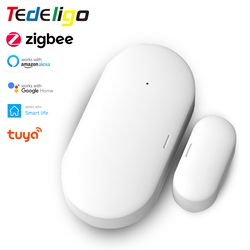 Smart Life Zigbee Sensor Window Door Open / Closed Detector Tuya APP Wireless Control Work with Gateway Bridge Google Home Alexa