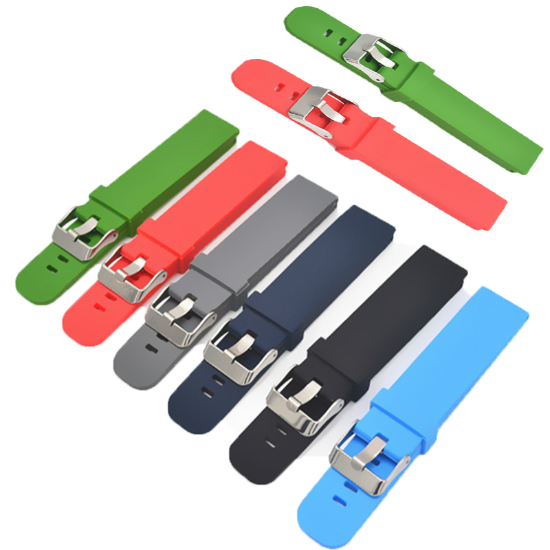 <font><b>Watch</b></font> Sport Durable Silicone Watchbands 18 / 20 / 22 <font><b>mm</b></font> For <font><b>Strap</b></font> for Men's Silicone <font><b>strap</b></font> 16/18/20/22/24/26/28mm Ribbon image
