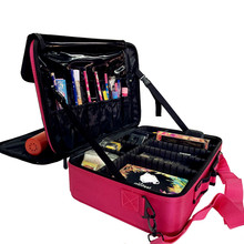 2019 Professional Cosmetic Bag Organizer Women Travel Make Up Cases Large Capaci