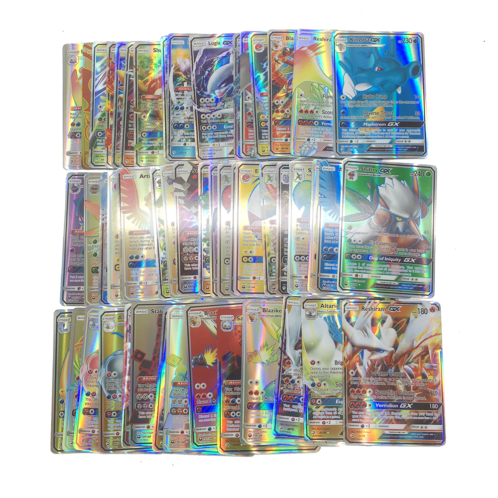 Takara Tomy Pokemon 200PCS GX MEGA Trainer  Flash Card Sword Shield Sun Moon Card Collectible Gift Children Toy