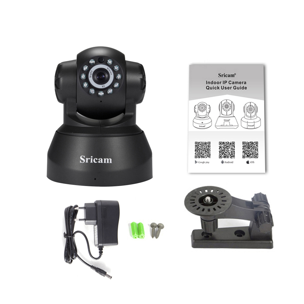 Sricam 1280x720 Motion Detection Alarm Camera Network Wireless IP Camera Home Security Monitoring Sp012 EU Plug