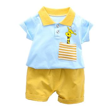Nowe letnie ubrania dla dzieci chłopców garnitur dzieci dziewczyny bawełna Cartoon T Shirt spodenki 2 sztuk zestaw maluch modna odzież dla dzieci dresy tanie i dobre opinie Byaxbxya Moda Skręcić w dół kołnierz Swetry baby sets COTTON Unisex Krótki REGULAR Pasuje mniejszy niż zwykle proszę sprawdzić ten sklep jest dobór informacji